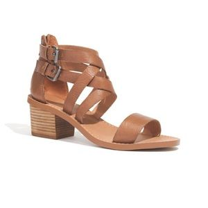 Madewell Lora Block Heel Ankle Strap Sandals 7 1/2